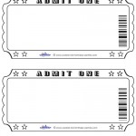 Blank Printable Admit One Invitations