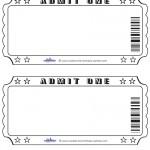 Blank Printable Admit One Invitations