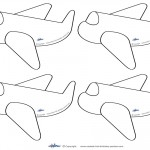 Small Printable Airplane Decoration