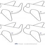 Small Printable Airplane Decoration