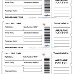 Printable Airplane Boarding Pass Invitations