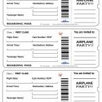 Printable Airplane Boarding Pass Invitations
