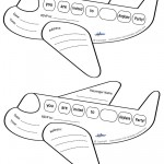 Printable Airplane Shaped Invitations