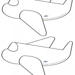 Blank Printable Airplane Shaped Invitations