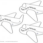 Printable Airplane Thank You Cards