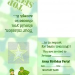Printable Army Foldable Invitation