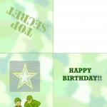 Printable Army Greeting Card