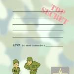 Printable Army A5 Invitation 1