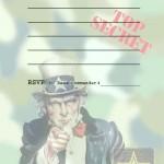 Printable Army A5 Invitation 2