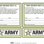 Printable Army Invitations