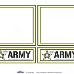 Blank Printable Army Invitations
