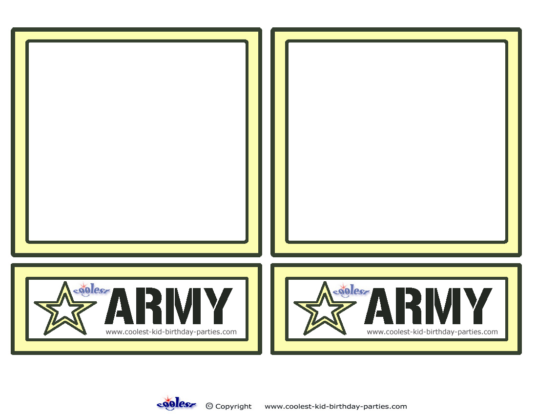 Blank Printable Army Invitations
