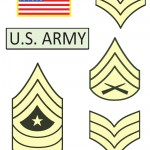 Printable Patches and Ranks for Army Theme Party