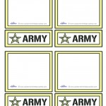 Blank Printable Army Star Thank You Cards