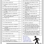 Printable Around Town Scavenger Hunt List