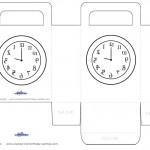 Printable Backwards Clock Favorbag
