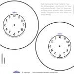 Blank Printable Backwards Clock Invitation