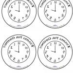 Printable Backwards Clock Thank You Cards