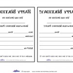 Printable Backwards 1 Invitation