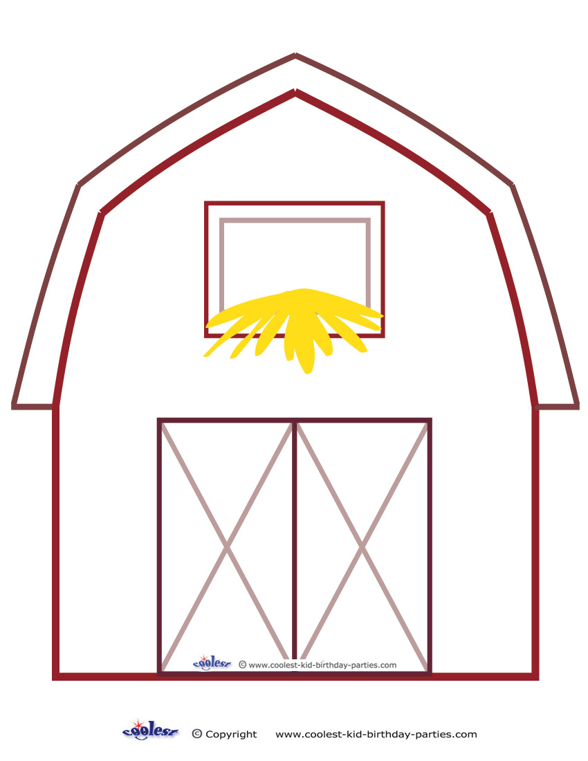 barn outline printable - photo #2