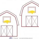 Medium Printable Barn Decorations