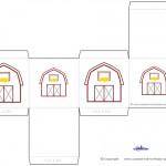 Printable Barn Favorbox