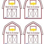 Printable Barn Thank You Cards