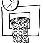 Printable Basketball Coloring Page 1