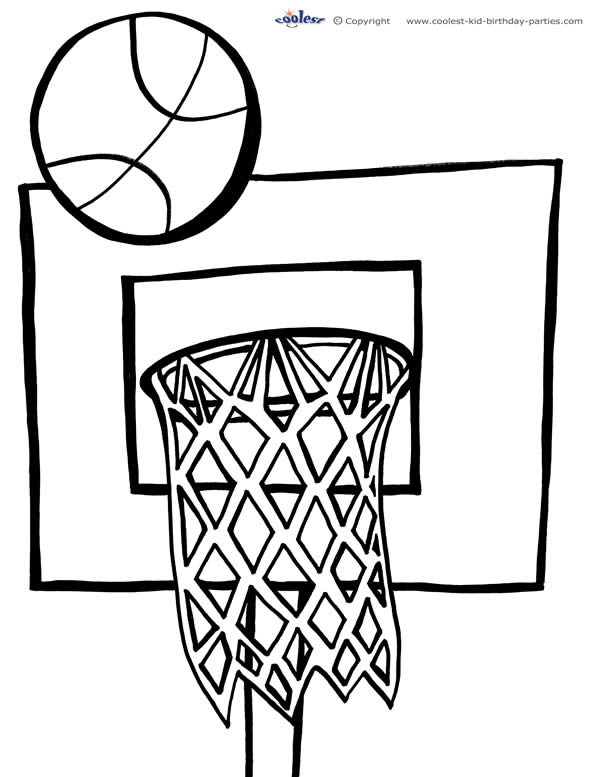 Basketball Coloring Pages Printable Pictures to Pin on Pinterest