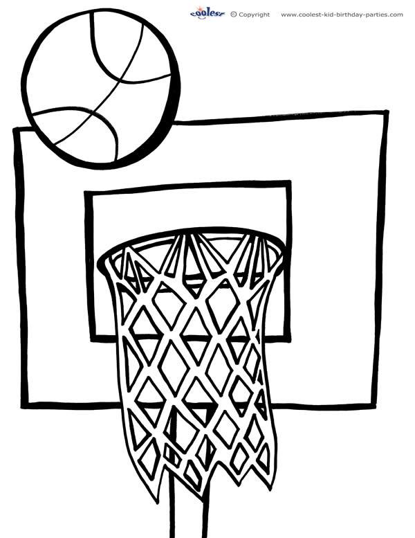 Printable Basketball Coloring Page 1