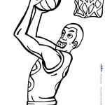 Printable Basketball Coloring Page 2
