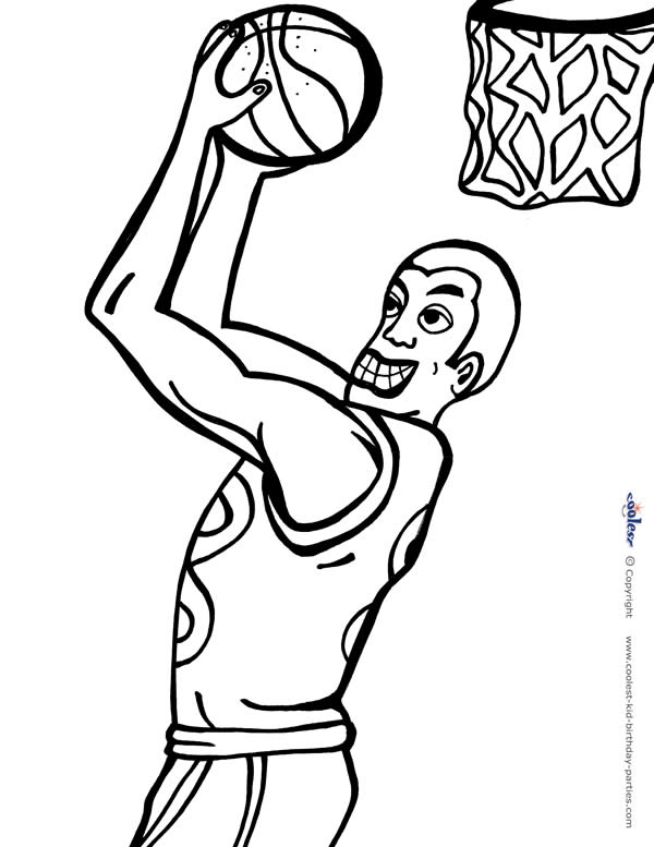 download printable - Basketball Pictures To Color 2