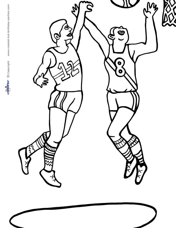 Printable Basketball Coloring Page 3 - Coolest Free Printables