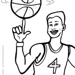 Printable Basketball Coloring Page 4