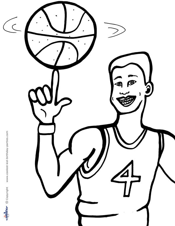 Free Basketball Coloring Cake Ideas And Designs Basketball Coloring Pages Printable
