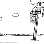 Printable Basketball Coloring Page 6