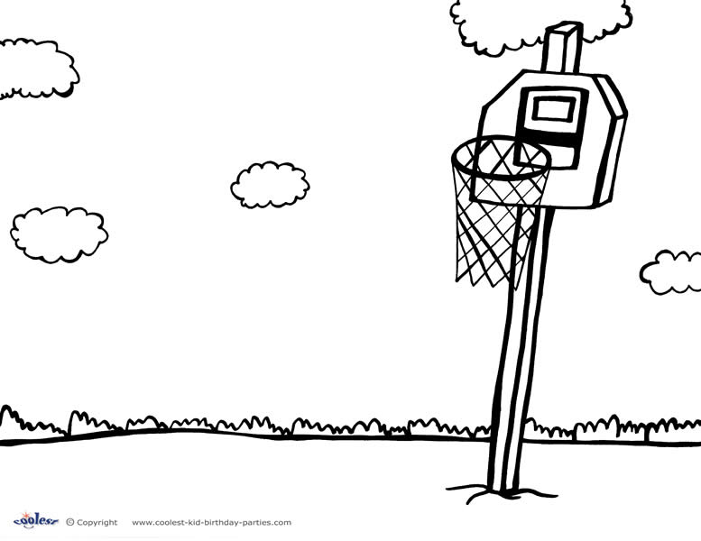 Printable Basketball Coloring Page 6 - Coolest Free Printables