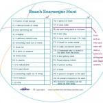Printable Beach Scavenger Hunt List