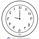 Large Printable Backwards Clock
