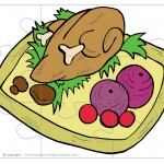 Printable Colored Turkey 2 Large-Piece Puzzle