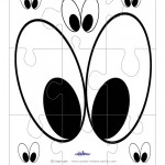 Printable Eyes 2 Large-Piece Puzzle