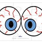 Printable Eyes 3 Large-Piece Puzzle
