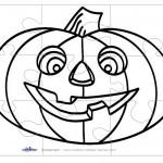 Printable B&W Pumpkin 1 Large-Piece Puzzle