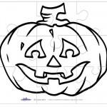 Printable B&W Pumpkin 2 Large-Piece Puzzle