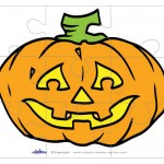 Printable Pumpkin 2 Large-Piece Puzzle