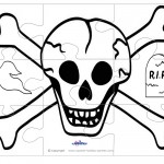 Printable Skull Large-Piece Puzzle