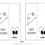 Printable Ghost Bookmark