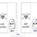Printable Skull Bookmark