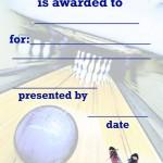 Printable Bowling Certificate 1