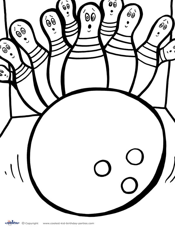bowling pin coloring pages - photo#6